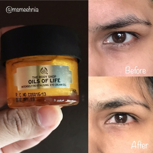 Body Shop Drop Of Light Eye Cream Review: The Body Shop Oils Of Life Intensely Revitalising Eye