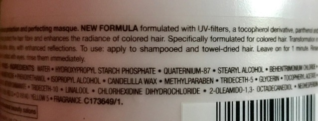 L'Oreal Professionnel Vitamino Color A-OX Masque Ingredients