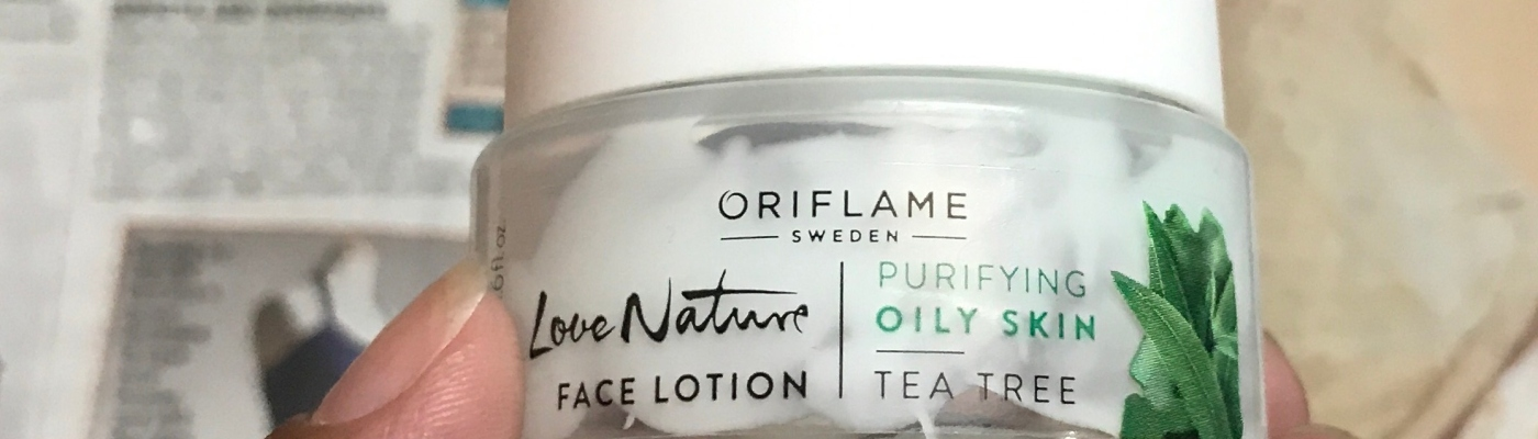 Oriflame Love Nature Face Lotion Purifying Oily Skin Tea Tree