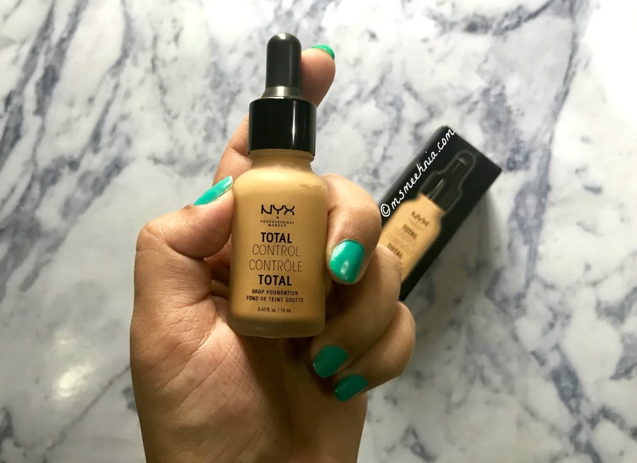 NYX Total Control Drop Foundation Review Swatches Ms Meehnia
