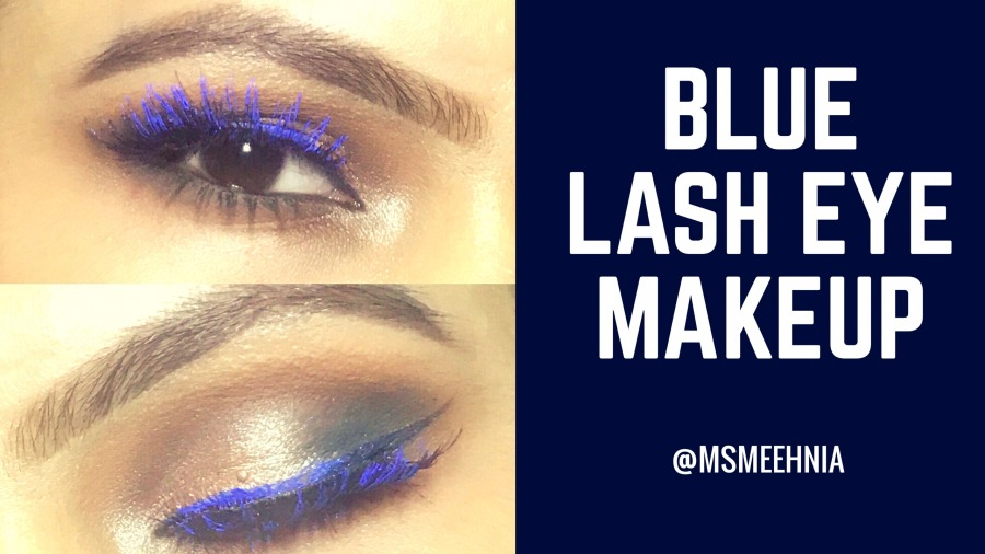 Blue lash eye makeup | Ms Meehnia