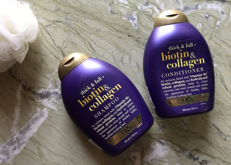 Organix Ogx Thick & full + biotin & collagen shampoo and conditioner