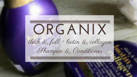 Organix Ogx Thick & full + biotin & collagen shampoo and conditioner | Ms Meehnia