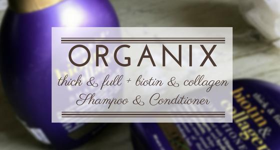 Organix Ogx Thick & full + biotin & collagen shampoo and conditioner | Ms Meehnia