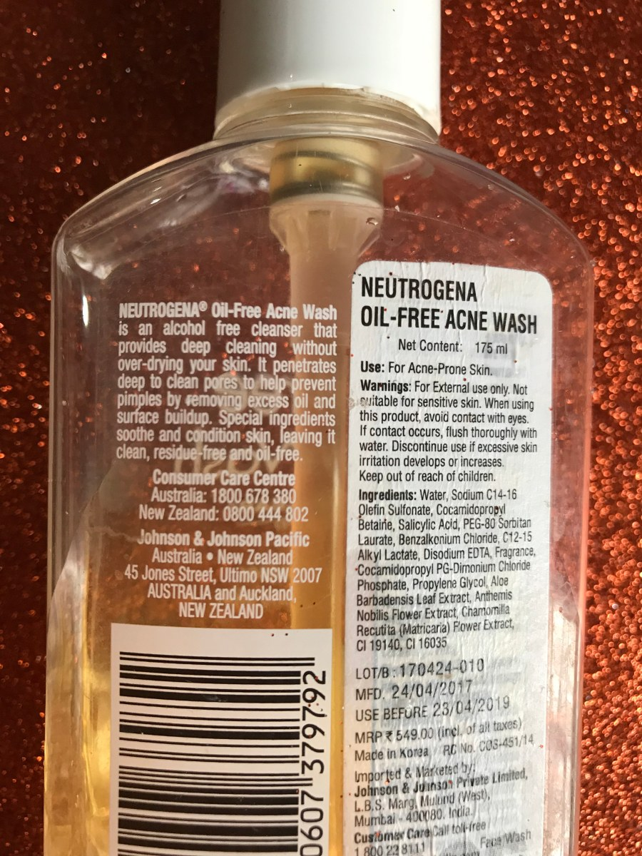 Neutrogena Oil Free Acne Wash Review | Ms Meehnia