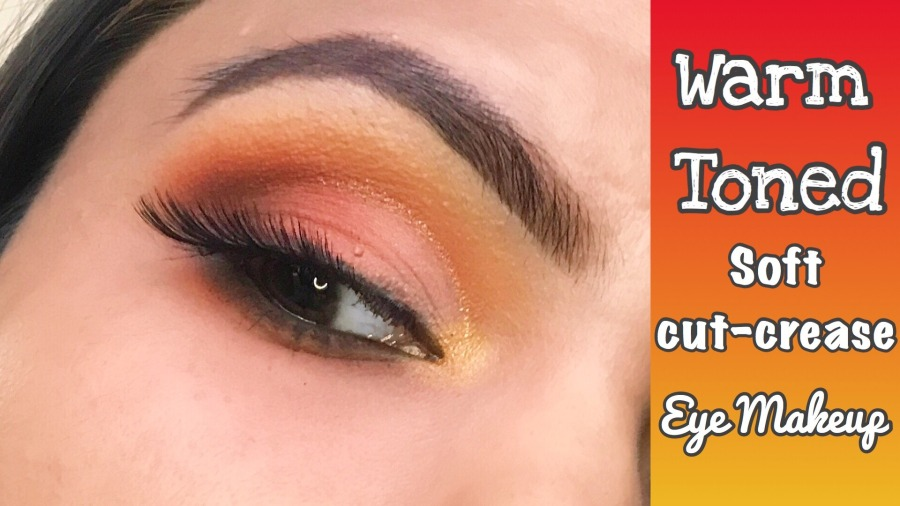 Easy Warm Toned Soft Glitter Cut Crease Eye Makeup |Colourpop Yes Please Palette | Ms Meehnia